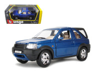 Land Rover Freelander With Rear Cab Blue 1/24 Scale Diecast Model By Bburago 22012