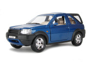 Bburago 1/24 Scale Land Rover Freelander With Rear Cab Blue Diecast Car Model 22012