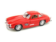 1954 Mercedes Benz 300SL Red 1/24 Scale Diecast Car Model By Bburago 22023