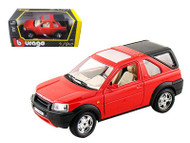 Land Rover Freelander With Rear Cab Red 1/24 Scale Diecast Model By Bburago 22012