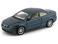 Bburago 1/24 Scale Volvo C70 Coupe Blue Diecast Car Model 22100