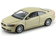 Bburago 1/24 Scale Volvo C70 Coupe Gold Diecast Car Model 22100