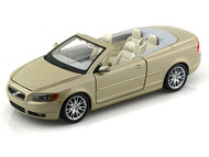 Bburago 1/24 Scale Volvo C70 Cabriolet Gold Diecast Car Model 22101