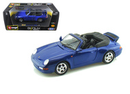 Porsche 911 Carrera Cabriolet Blue 1/24 Scale Diecast Car Model By Bburago 22080