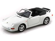 Porsche 911 Carrera Cabriolet White 1/24 Scale Diecast Car Model By Bburago 22080