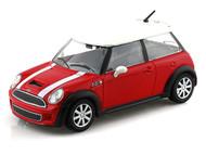 Mini Cooper S Red 1/24 Scale Diecast Car Model By Bburago 22124