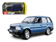 Land Rover Range Rover Blue 1/24 Scale Diecast Model By Bburago 22020
