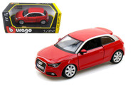 Audi A1 Red 1/24 Scale Diecast Car Model BY Bburago 21058