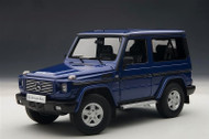 Mercedes Benz G500 1998 SWB SUV Blue 1/18 Scale Diecast Model By AUTOart 76114