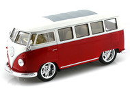 1962 VW Volkswagen Micro Bus Hot Rider Red 1/25 Scale Diecast Model By Welly 22095