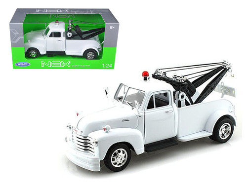 1953 Chevrolet 3100 Tow Truck Wrecker Plain White 1/24 Scale Diecast Model By Welly 22086