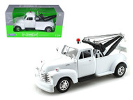 1953 Chevy 3100 Tow Truck Wrecker Plain White 1/24 Scale Diecast Model By Welly 22086