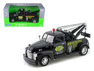 1953 Chevy 3100 Tow Truck Wrecker Road Service Black 1/24 Scale Diecast Model By Welly 22086