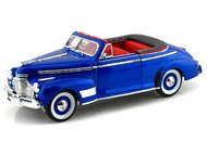 1941 Chevrolet Special Deluxe Convertible Blue 1/24 Scale Diecast Car Model By Welly 22411