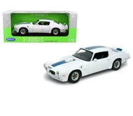 1972 Pontiac Firebird Trans Am T/A White 1/18 Scale Diecast Car Model By Welly 12566
