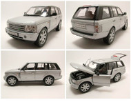 2003 Land Rover Range Rover Silver SUV 1/18 Scale Diecast Car Model By Welly 12536