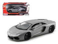 Lamborghini Aventador LP700-4 Grey 1/18 Scale Diecast Car Model By Motor Max 79154