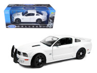 2007 Saleen Ford Mustang S281E Police White 1/18 Scale Diecast Car Model By Welly 12569