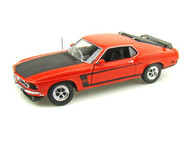1969 Ford Mustang Boss 302 Red 1/18 Scale Diecast Car Model By Welly 12516