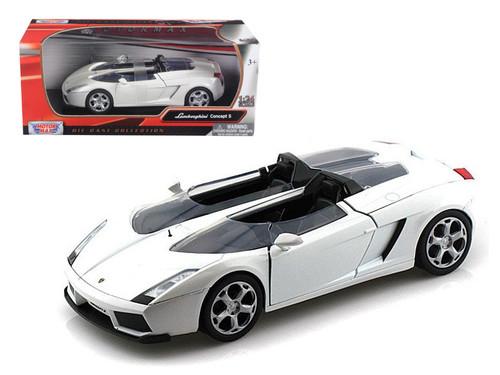 Lamborghini Concept S White 1/24 Scale Diecast Car Model By Motor Max 73365