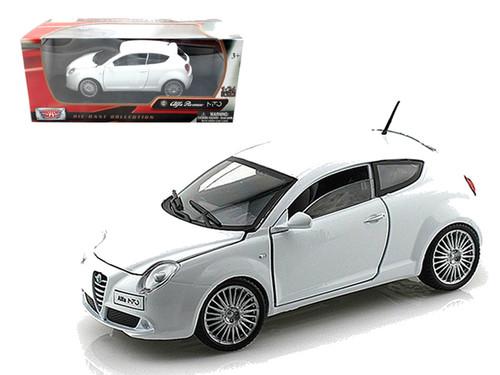 Alfa Romeo Mito White 1/24 Scale Diecast Car Model By Motor Max 73371