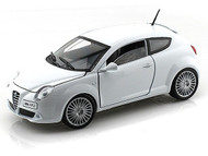 Alfa Romeo Mito White 1/24 Scale Diecast Car Model By Motor Max 73371