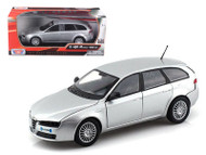 Alfa Romeo 159 SW Wagon Silver 1/24 Scale Diecast Car Model By Motor Max 73372