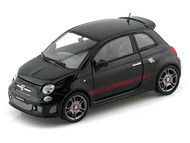 Fiat Abarth 500 Black 1/24 Scale Diecast Car Model By Motor Max 73380