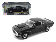 1970 Ford Mustang Boss 429 Black 1/18 Scale Diecast Car Model By Motor Max 73154