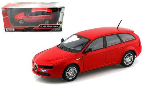 Alfa Romeo 159 SW Wagon Red 1/24 Scale Diecast Car Model By Motor Max 73372