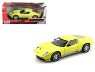 Lamborghini Miura Concept Yellow 1/24 Scale Diecast Car Model By Motor Max 73367