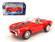 1965 Shelby Cobra 427 Red 1/24 Scale Diecast Car Model By Maisto 31276