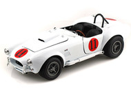 Auto World 1/18 Scale 1965 Shelby Cobra 427 S/C #11 Elvis Presley Spinout White Diecast Car Model AWSS104