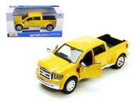 Ford Mighty F-350 Super Duty Yellow Pick Up Truck 1/31 Scale Diecast Model By Maisto 31213