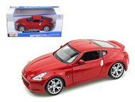 2009 Nissan 370Z 370 Z Red 1/24 Scale Diecast Car Model By Maisto 31200