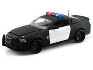 Ford Shelby GT500 Super Snake Police Plain Black & White 1/18 Scale Diecast Car Model By Shelby Collectibles SC 462