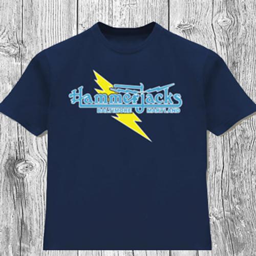 """Classic Hammerjacks """"Lightning Bolt"""" T-Shirt in Navy"""