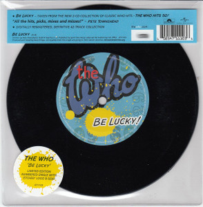"THE WHO Be Lucky 7"" Vinyl Single"