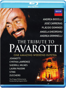 THE TRIBUTE TO PAVAROTTI Blu-ray SEALED/NEW Bocelli Carreras Domingo Sting