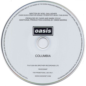 "OASIS - Columbia (5"" CD SINGLE)"