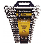 13997 - 16Pc. Metric Flex-Head Comb. GearWrench Set