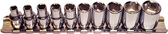 "92210  - 10 Piece 1/4"" Drive 6 Point Standard SAE Sockets"