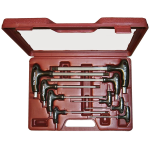 MK066 - 9Pc. Metric T-Handle Ball End Hex Key Set