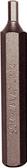 "P7004 - 4MM X 10MM HEX IN-HEX INSERT BIT X 3"" (75MM)"