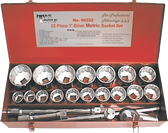 "22 PC. 1"" DR. METRIC SOCKET SET"