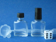 Mini Glass Perfume Bottles - Rectangle Oval X-Section - 1/3oz (10mL)