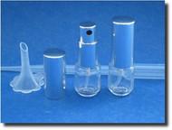 Atomizer - Glass Mini Cylinder w/Screw-on Sprayer - 1/6 oz (5mL)