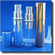 Purse Atomizer - Metal - Silver or Gold - 1/3oz / 10ml