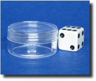 Clear Plastic Jars w/Clear Lid -- 1/3oz (10mL)