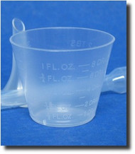 (6) Graduated Plastic Measuring Cups - 1oz/30ml